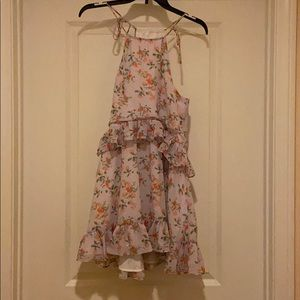 NWOT Lovers + friends ruffle floral tiered dress